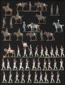 France - Garde impériale. Une halte de Chasseurs à cheval et 3ème grenadiers hollandais au défilé, o