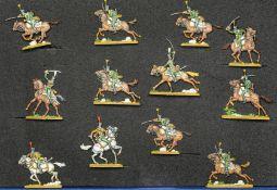 France - Cavalerie légère. Le 21ème régiment de chasseurs à cheval à la charge. 2 officiers, 2 tromp