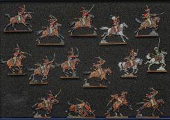 France - Garde impériale. Bessières menant une charge des chasseurs à cheval. 3 officiers, 1 sous-of