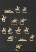 France - Cavalerie légère. Les lanciers de la Vistule à la charge. 1 officier, 1 trompette, 12 solda