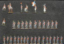 France - Infanterie de ligne. 2ème régiment suisse. Les chasseurs, grenadiers et fusiliers au fixe e