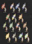 France - XVIIIème siècle - Les drapeaux de l'infanterie. (Règne de Louis XV). Picardie, Rohan, Orléa