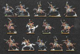 France - Cavalerie légère. Général menant une charge du 9ème hussards. Le colonel, 2 officiers, 2 tr