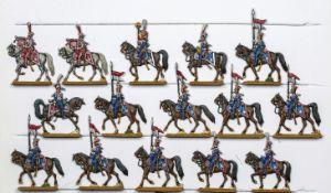France - Garde impériale. Cavalerie. Chevau-légers lanciers polonais. <br>2 officiers, 2 trompettes,