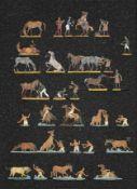France - Cavalerie légère. La baignade des chevaux, maréchaux-ferrants. (29 fig.). Peinture bon amat