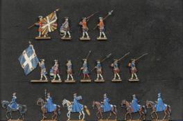 France - XVIIIème siècle - La Maison Militaire du Roi. Gardes françaises: drapeau, tambours, f