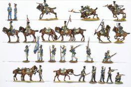 France - Cavalerie légère. Légion de la Vistule, lanciers à la charge, en tirailleurs et en réserve,
