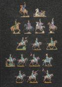 France - Cavalerie légère. Poniatowski et son état-major, et 5ème régiment de chevau-légers français