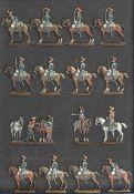 France -Garde impériale. Cavalerie. Le départ des Gardes d'honneur. <br>2 officiers, 1 trompette, 12