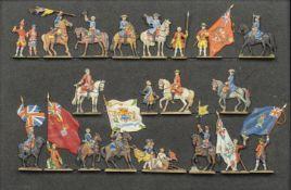 France - XVIIIème siècle - Fontenoy. Les drapeaux anglais présentés à Louis XV. (21 fig.). Superbe.