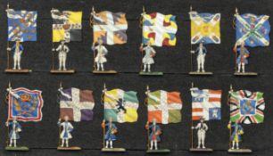 France - XVIIIème siècle - Les drapeaux de l'infanterie. (Règne de Louis XV). Royal suédois, Lorrain