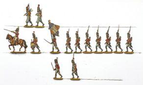 France - Infanterie de ligne. 3ème régiment suisse. Les grenadiers en marche: 1 officier à che