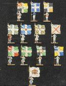 France - XVIIIème siècle - Les drapeaux de l'infanterie. (Règne de Louis XV). Royal vaisseaux, Royal