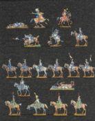 France - Cavalerie légère. Murat au combat, lanciers en réserve, chasseurs à cheval (18 fig.). Peint