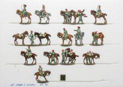 France - Garde impériale. Cavalerie. Le départ des Gardes d'honneur. <br>2 officiers, 1 trompette, 1