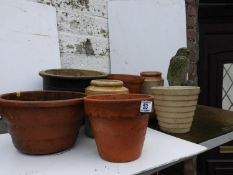 Garden Pots, Bird Ornament etc