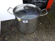 Stainless Steel Lidded Cooking Pot