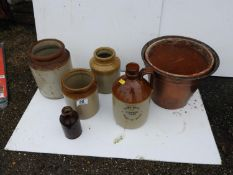 Terracotta Flagon, Pots etc