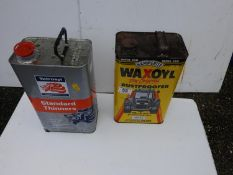 Tin of Wax Oil and Tin of Thinners