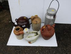 Enamel Kettle, Flagon etc