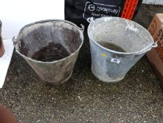 2x Galvanised Buckets