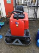 Gansow 125 Ride On Sweeper with Charger