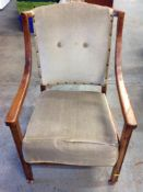 Wood Framed Armchair