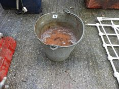 Galvanised Bucket and Contents - Fire Sand