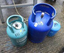 3x Gas Bottles