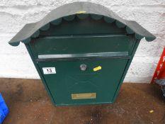 Metal Post Box - No Key