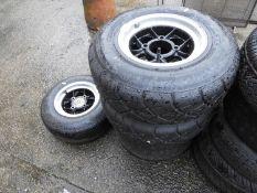 "Set of 4x 10"" Mamba Mini Wheels - 4x are shod with ADVAN Yokohama Tyres Yokohama Tyres - Unused"