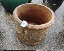 Decorative Circular Terracotta Planter