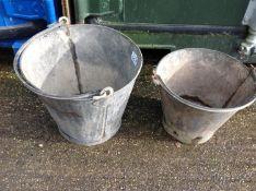 2x Metal Buckets