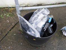Rubber Bucket and Contents - Plastic Garden Fence etc