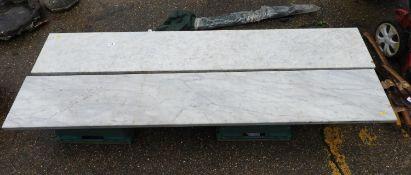 2x Lengths of Marble - 87cm Long