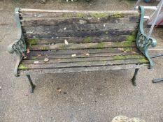 Metal End Garden Bench