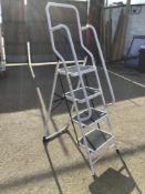 Aluminium Step Ladder with Hand Rails