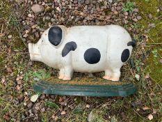 Cast Iron Pig Door Porter