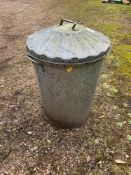 Galvanised Dustbin
