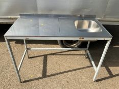 Commercial Sink on Table