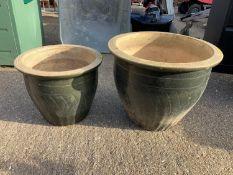 Glazed Planters