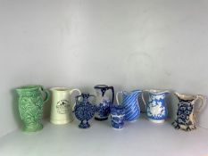 Collection of Jugs to Include Wade, Spode Beaker etc