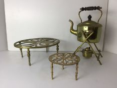 Spirit Kettle and 2x Trivets
