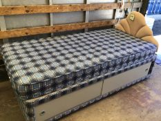 Single Bed with Headboard and Storage Under