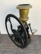 Antique Cast Iron Coffee Grinder - 76cm High