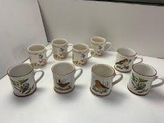 4x Jemima Puddleduck Mugs, 5x Denby Bird Mugs