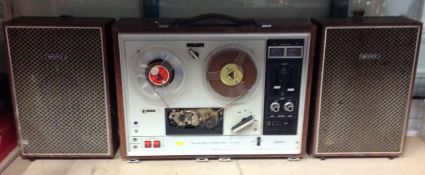 Sony Reel to Reel Tape Recorder with Speakers
