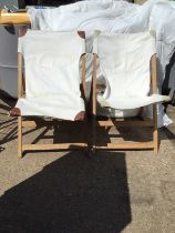 Pair of Modern Canvas Chairs