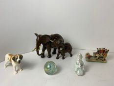 Widecombe Fair Ornament, Sylvac Dog, Mother and Baby Elephant, Paperweight etc