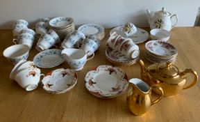Colclough Braganza Part Tea Set and other China